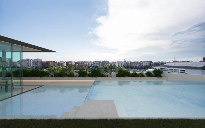 Ático en la alameda - Piscina - Arquitectos Valencia