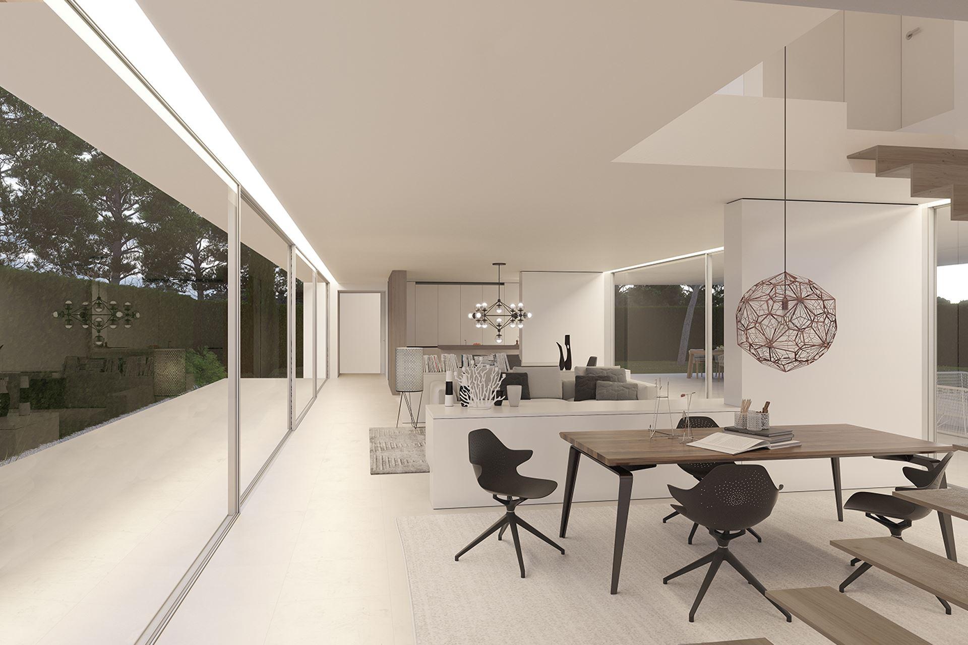 Interior moderno y calido