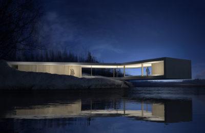 Proyecto Museo en Finlandia - Volumen - Arquitectura Valencia