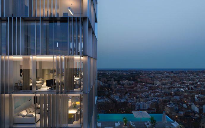 Torre residencial en Valencia - Fachada - Arquitectura Valencia